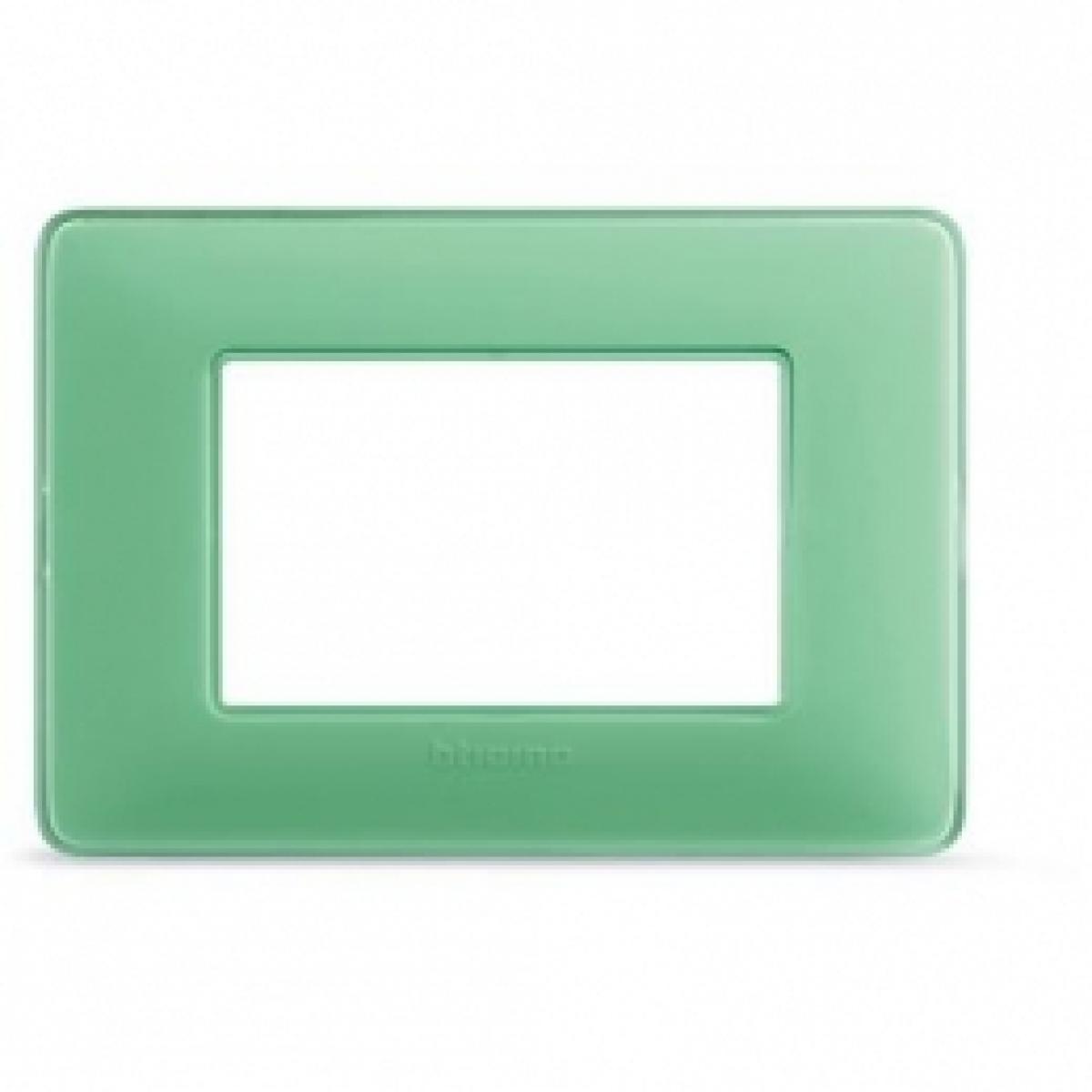 Placca 3 Moduli Te Verde Bticino Matix AM4803CVC