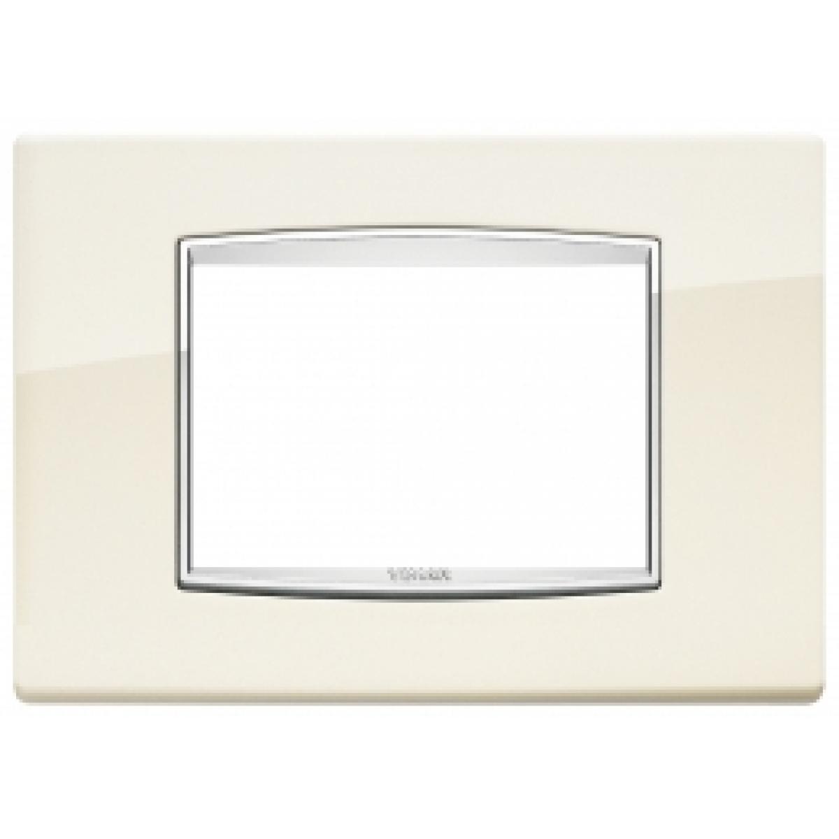 Eikon vimar placca classic 3 posti colore bianco antico 20653.02