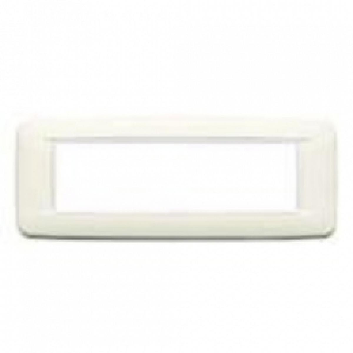 Eikon  vimar  placca round 7  posti colore bianco artico 20687.B01
