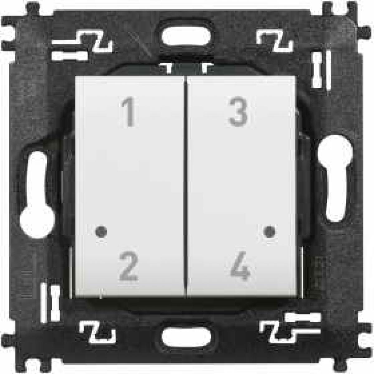 Comando 4 scenari wireless Bticino Living Light N4575CW