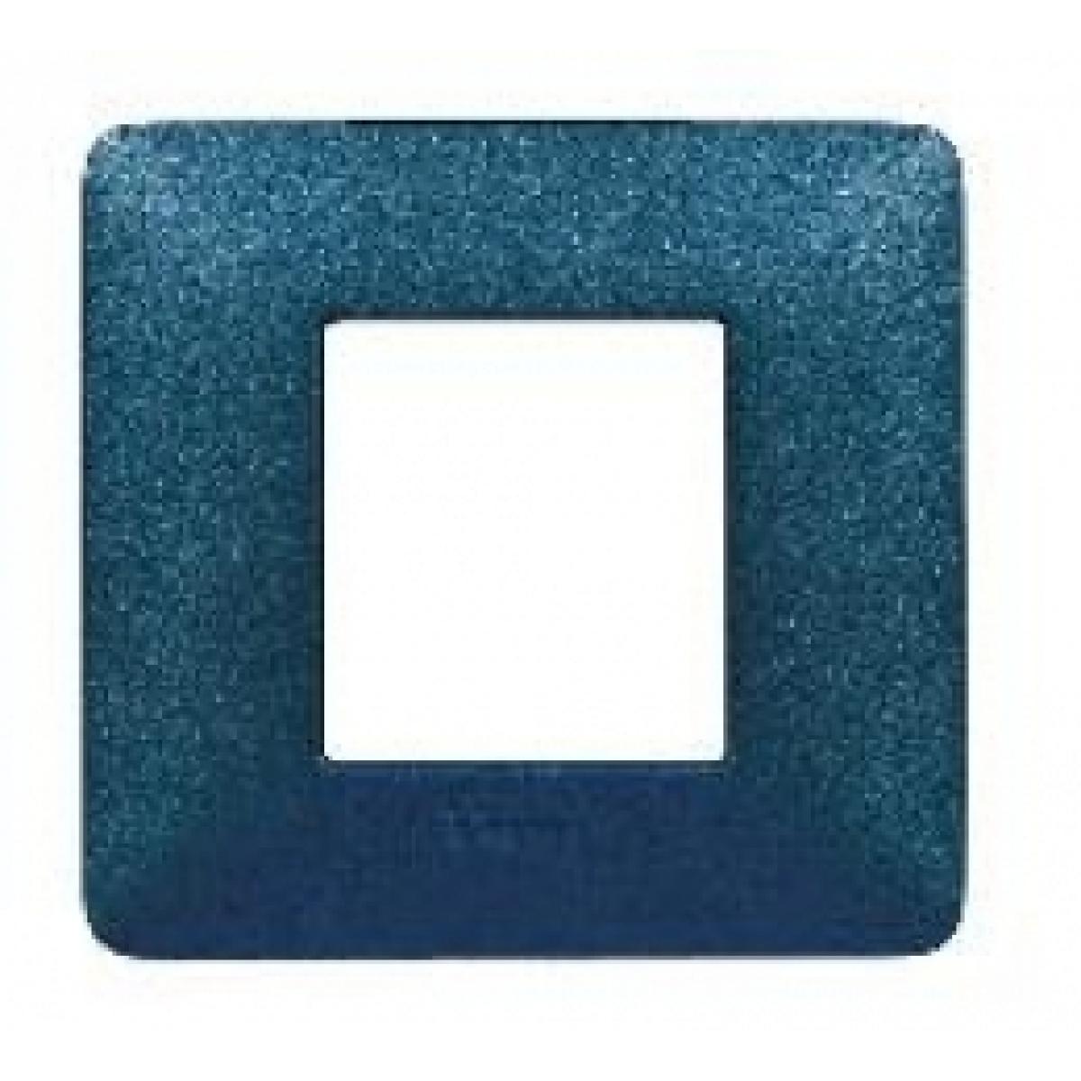 Placca 2 Moduli Blu Mercurio Bticino Matix AM4802TBM