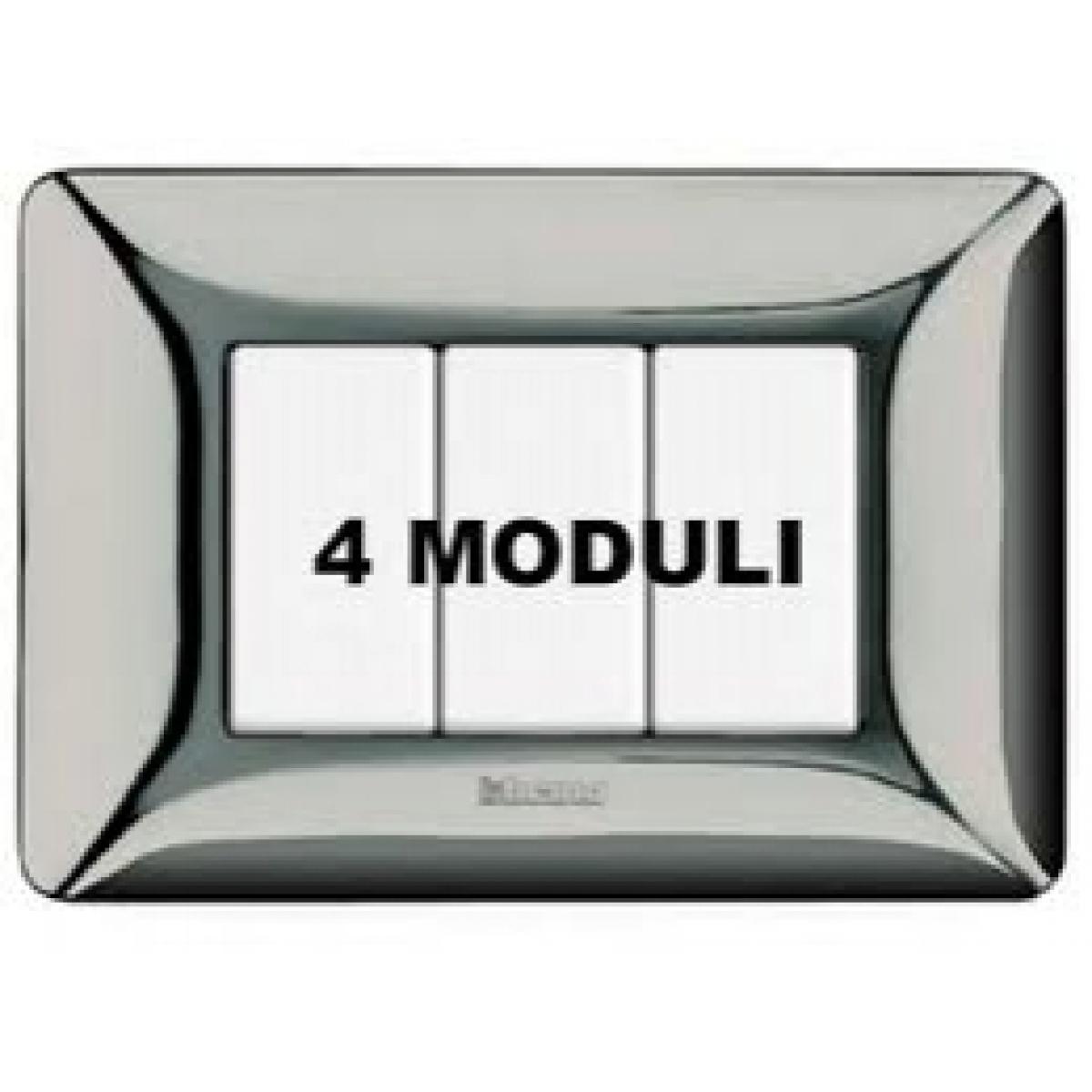 Placca 4 Moduli Cromo Lucido Bticino Matix AM4804GCR