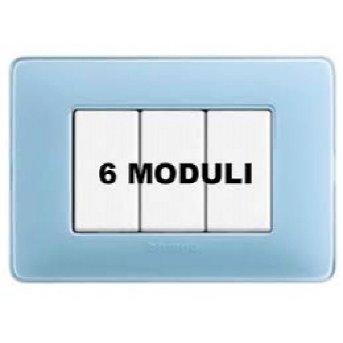 Placca 6 Moduli Turchese Bticino Matix AM4806CAR