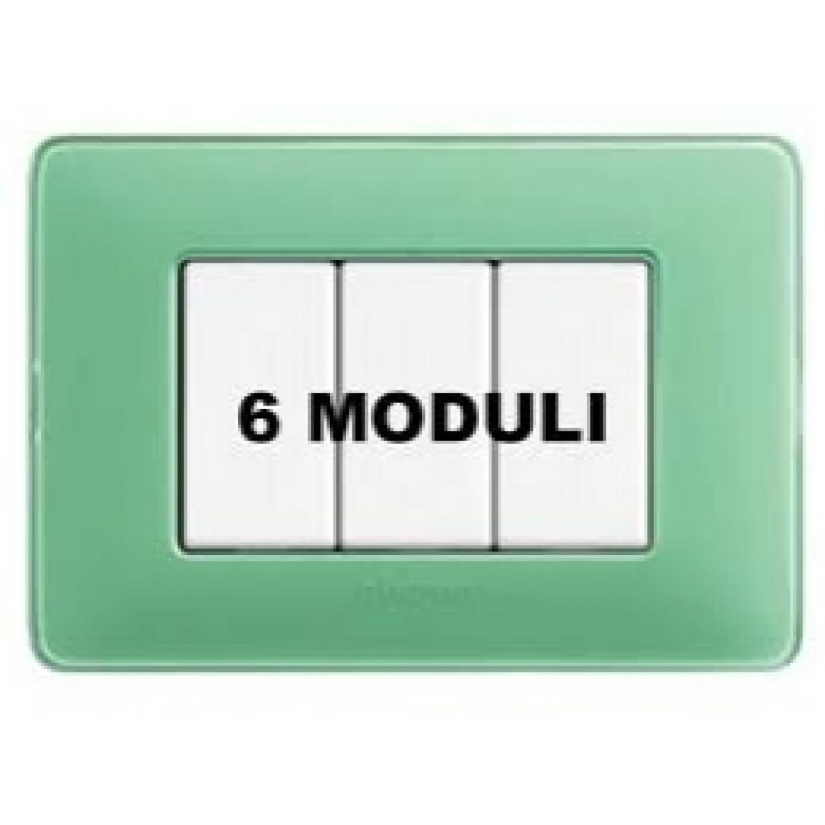 Placca 6 Moduli Te Verde Bticino Matix AM4806CVC