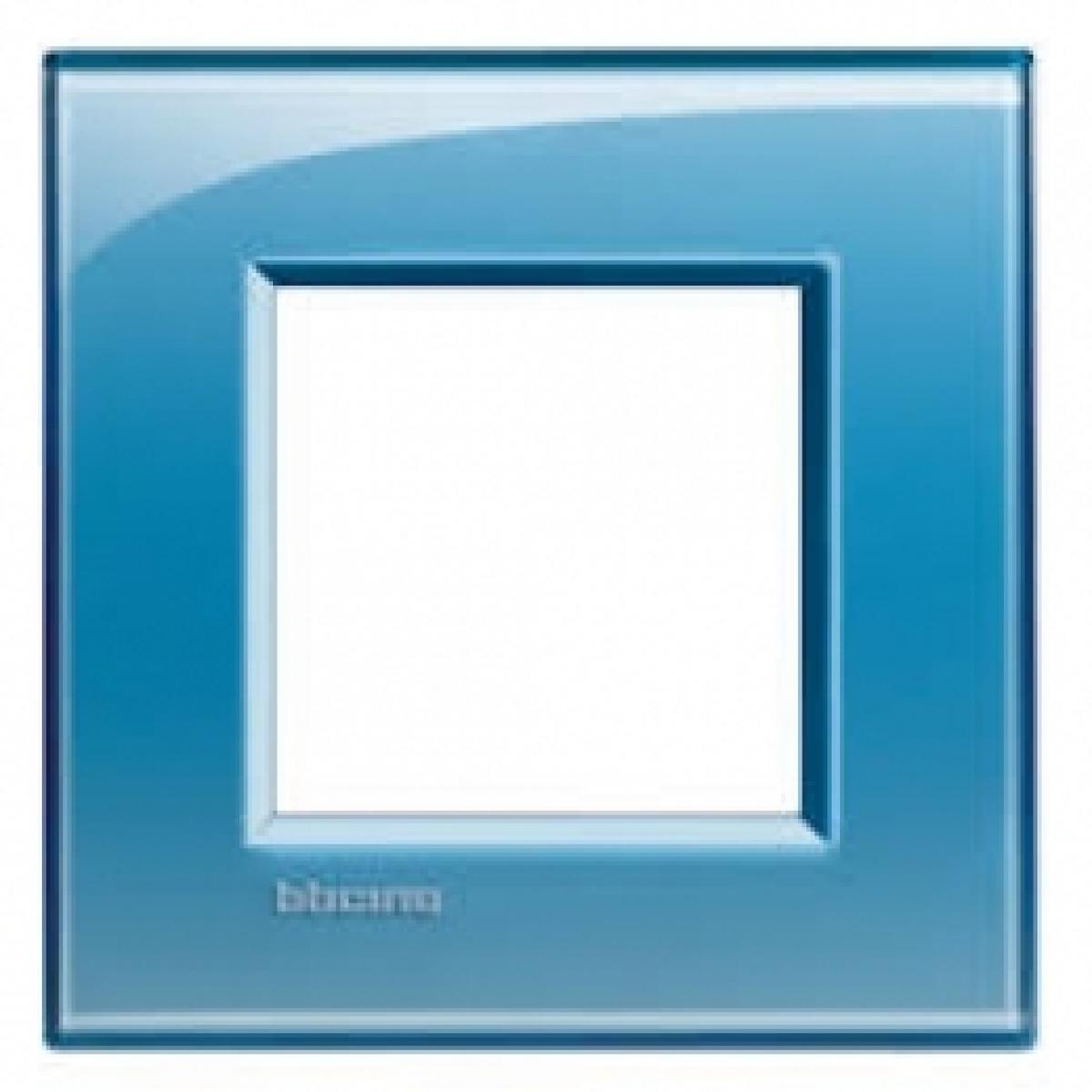 Placca 2 Moduli Azzurro Deep Bticino Living International LNA4802AD