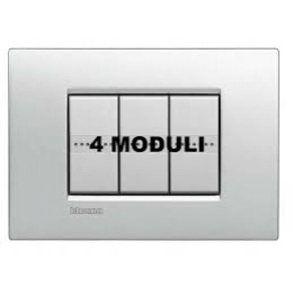 Placca 4 Moduli Tech Bticino Living Air LNC4804TE