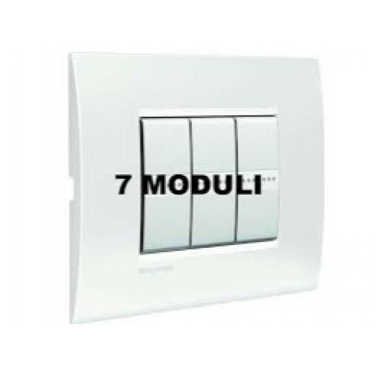 Placca 7 Moduli Bianco Puro Bticino Living Air LNC4807BN