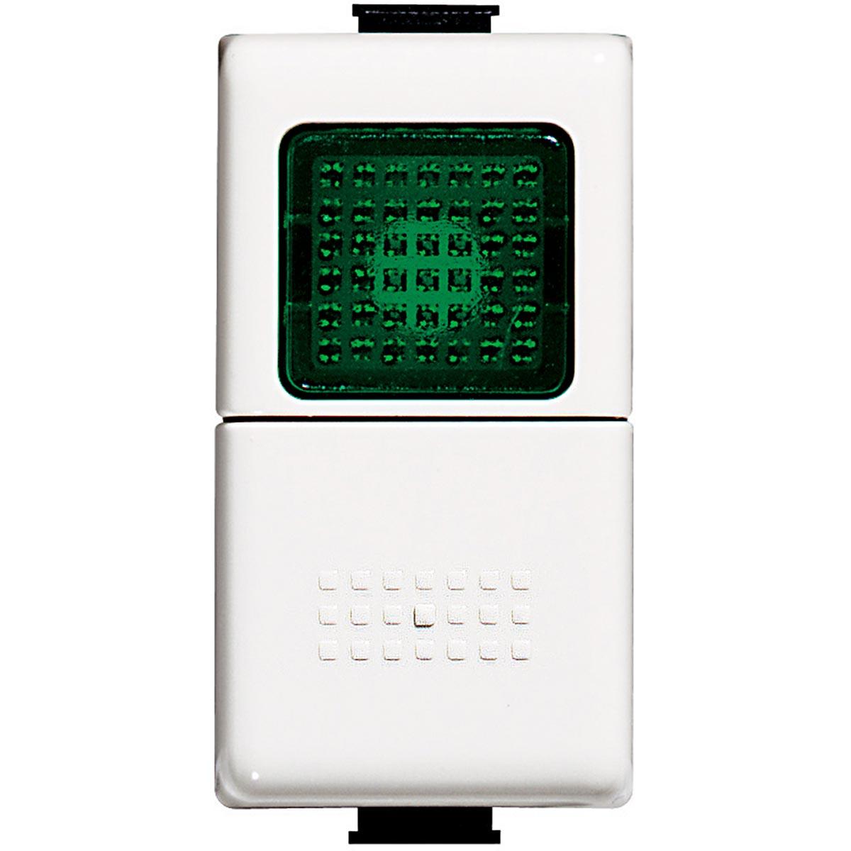 Pulsante Con Spia Verde Bticino Matix AM5057V