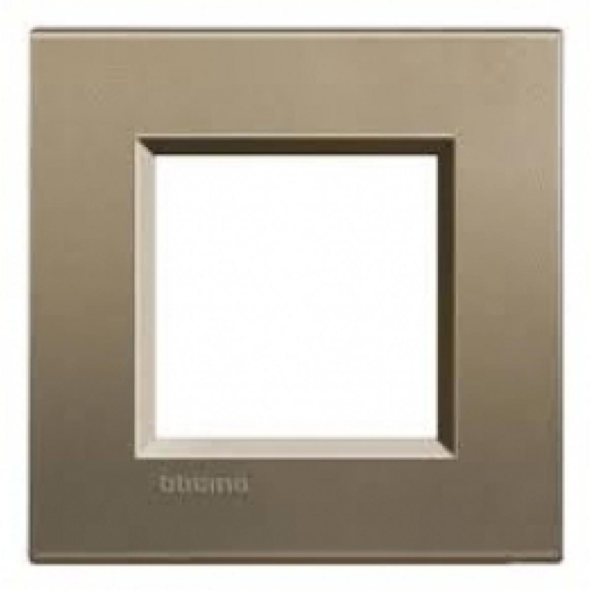 Placca 2 Moduli Square Bticino Living International LNA4802SQ