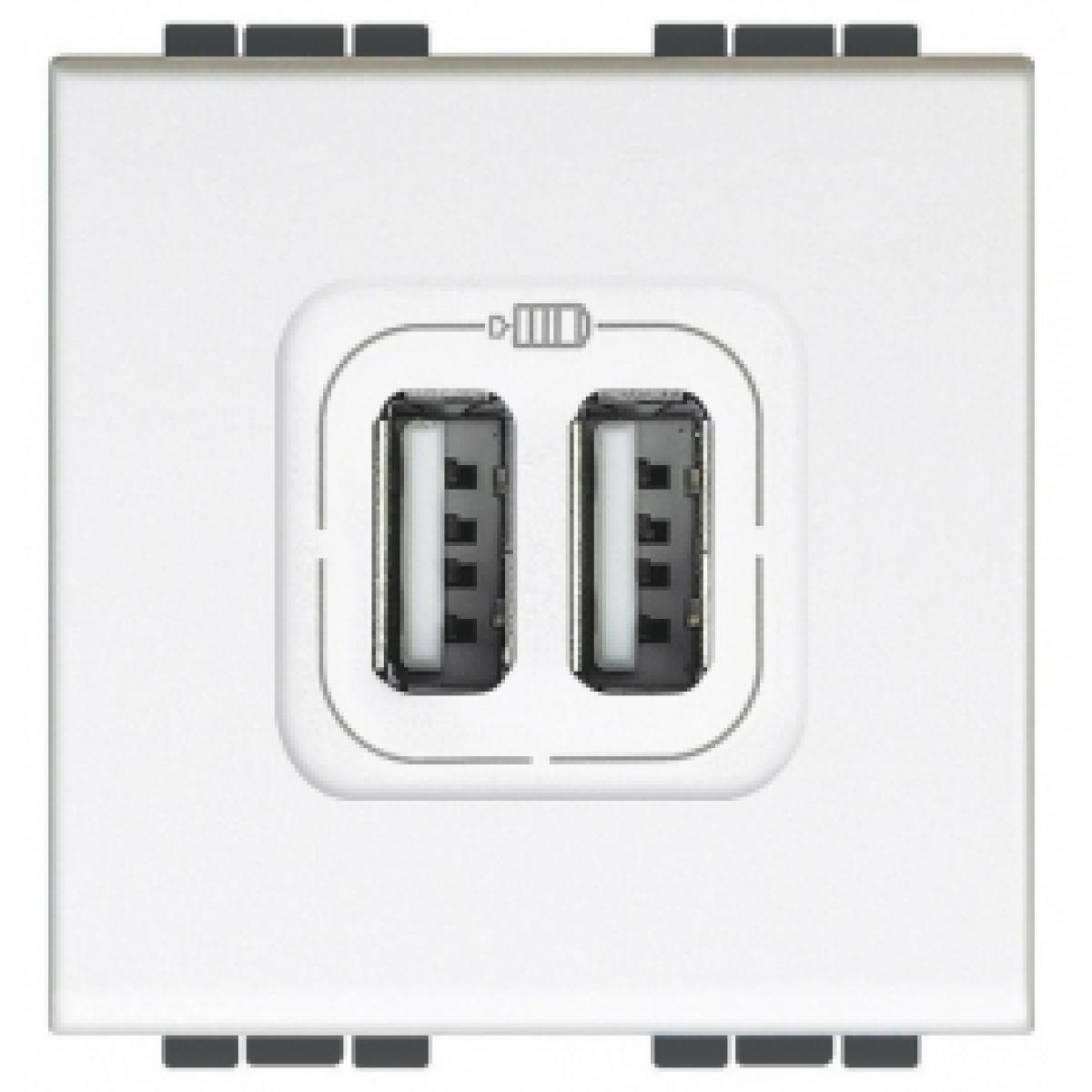 Presa Caricatore USB 2 Moduli Bticino Living Light N4285C2