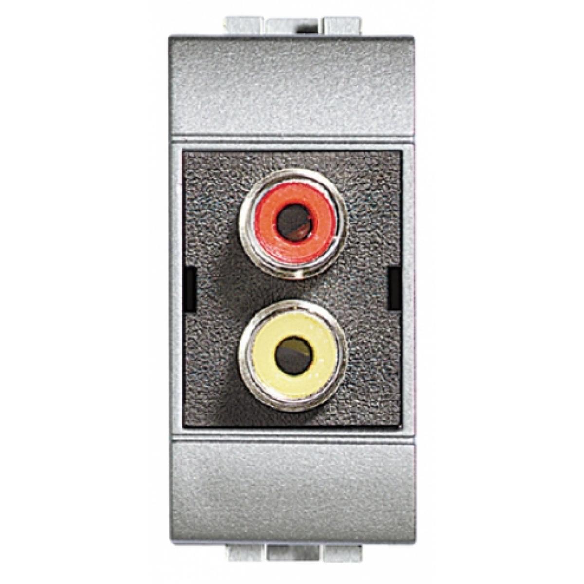 Doppio Modulo RCA Bticino Living Light Tech NT4269R