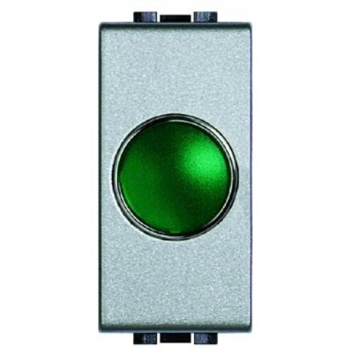 Portalampada Spia Verde Bticino Living Light Tech NT4371V