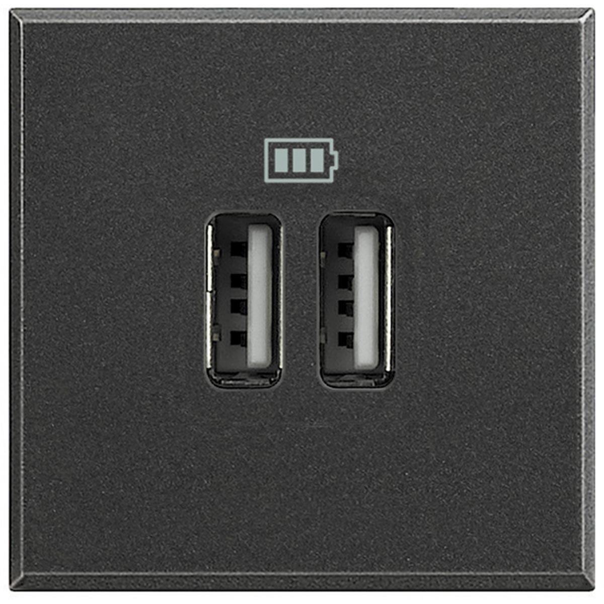 Caricatore USB Bticino Axolute Scura HS4285C2