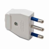 Spina elettrica 2+T 16° bianca 05161 master