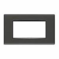 Eikon  vimar  placca classic  4 posti  reflex colore grafite 20654.40