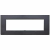 Eikon  vimar  placca classic  7 posti colore antracite matto 20657.15