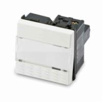 Mix pulsante portanome 1p 16a bianco 21040 master