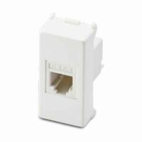 Mix presa telefonica RJ11 1 plug  6/4 bianco 21215 master