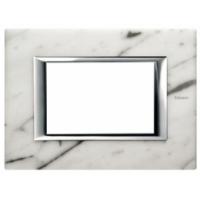 Placca 3 Posti Bticino Axolute Marmo Carrara HA4803RMC