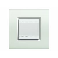 Placca 2 Moduli Bianco Bticino Living International LNA4802BI