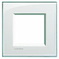 Placca 2 Moduli Acquamarina Bticino Living International LNA4802KA