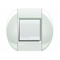 Placca Tonda 2 Moduli Bianco Bticino Living International LNB4802BI