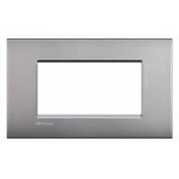 Placca 4 Moduli Nickel Mat Bticino Living Air LNC4804NK