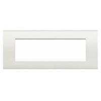 Placca 7 Moduli Bianco Bticino Living international LNA4807Bl