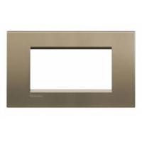 Placca 4 Moduli Square Bticino Living International LNA4804SQ