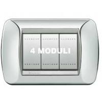 Placca 4 Moduli Bianco Bticino Living International L4804BI
