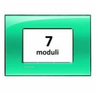 Placca 7 Moduli Verde Deep Bticino Living International LNA4807VD