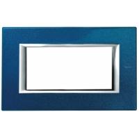 Placca 4 Posti Bticino Axolute Blu Meissen HA4804BM