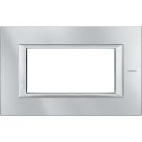 Placca 4 Posti Bticino Axolute Alluminio Tech HA4804HC