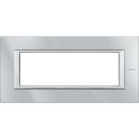 Placca 6 Posti Bticino Axolute Alluminio Tech HA4806HC