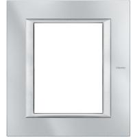 Placca 3+3 Bticino Axolute Alluminio Tech HA4826HC