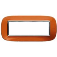 Placca Ovale 6 Posti Bticino Axolute Arancio Liquido HB4806DR