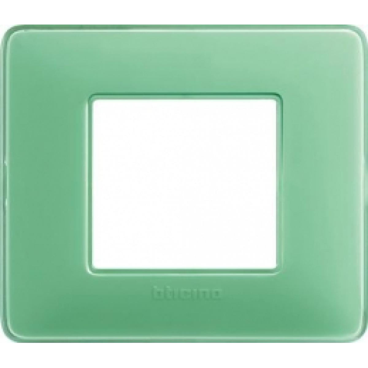 Placca 2 Moduli Te Verde Bticino Matix AM4802CVC