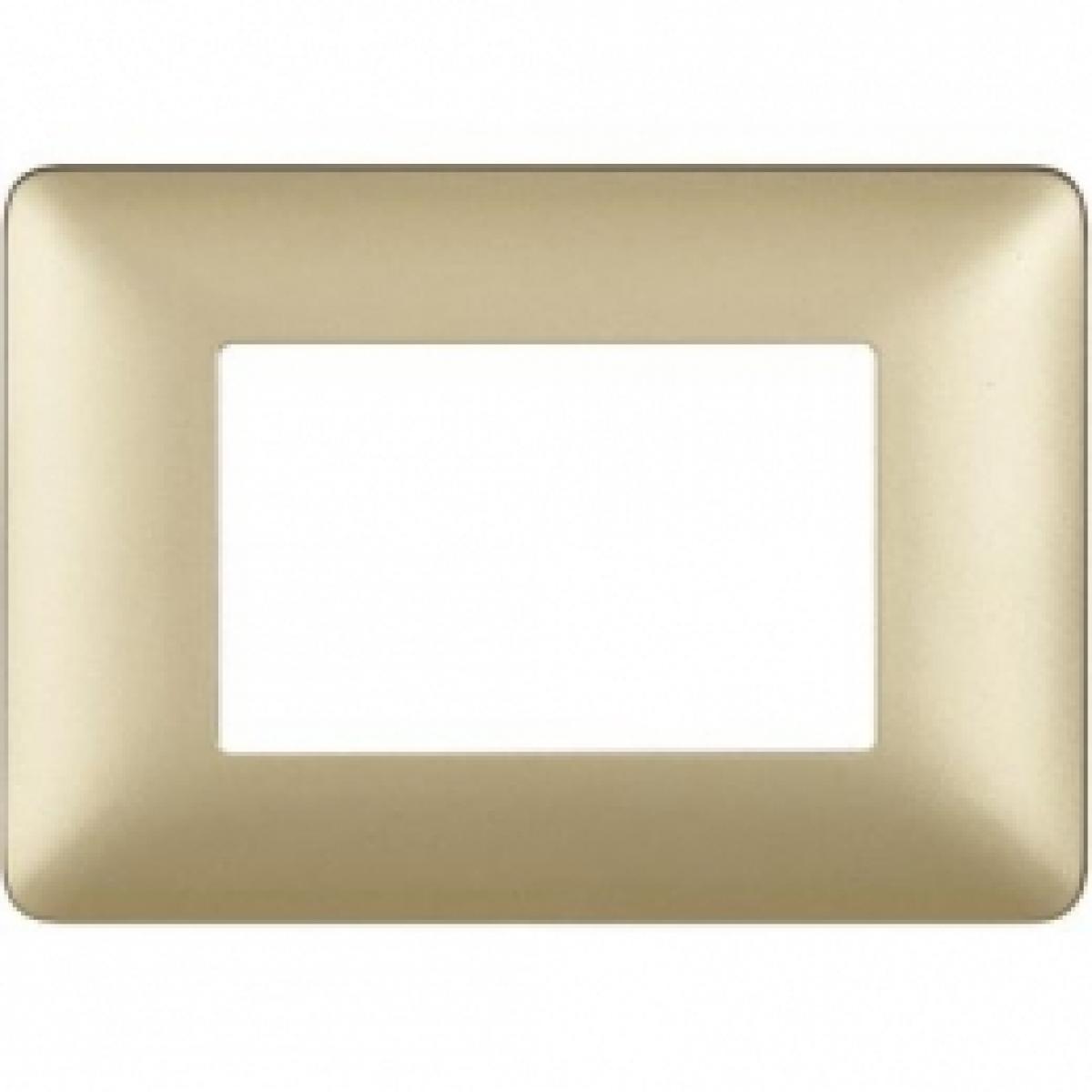 Placca 3 Moduli Gold Bticino Matix AM4803MGL