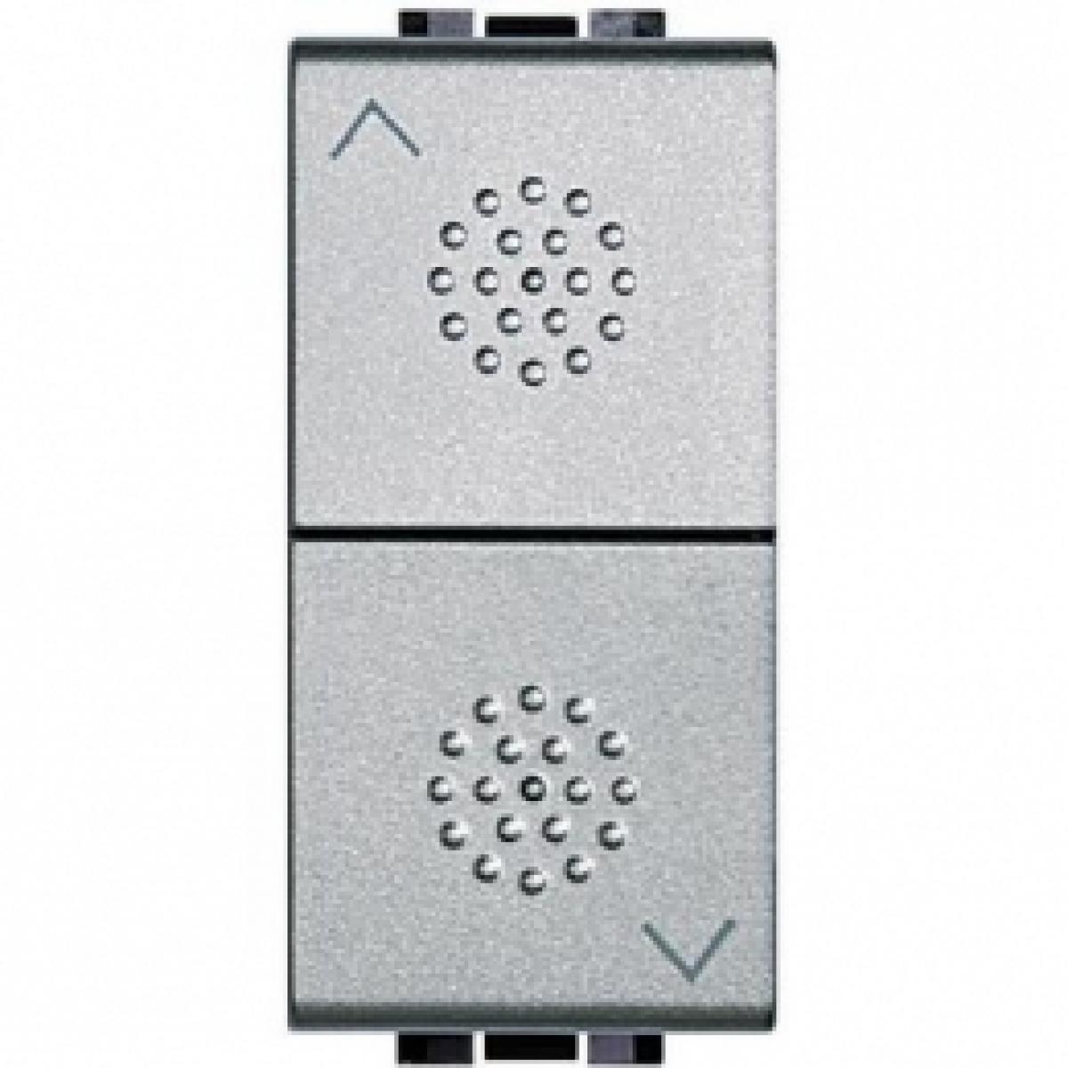 NT4027 commutatore bticino light tech serie con doppio tasto 1-0-2 alimentazione 230v corrente 16 am