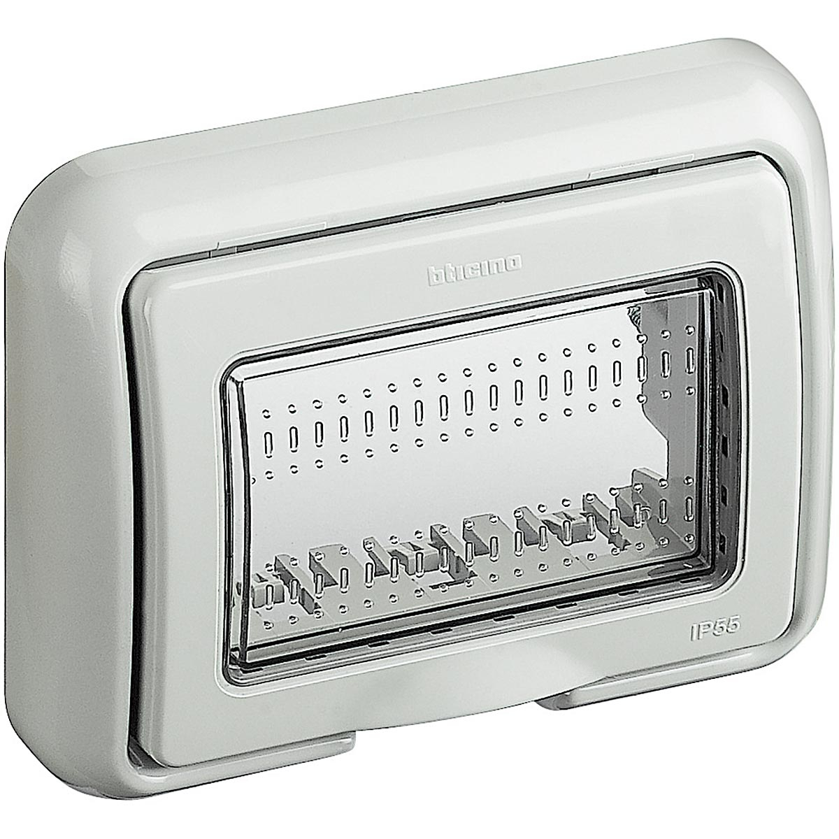 Matix bticino coperchio idrobox ip55 3 posti colore grigio 25603