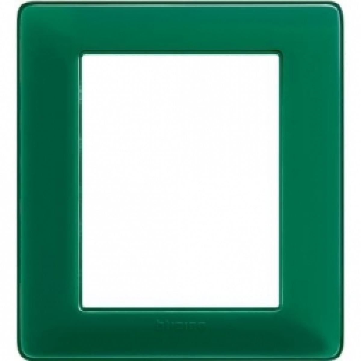 matix AM4826CVS  bticino placca 3+3 poli colore smeraldo