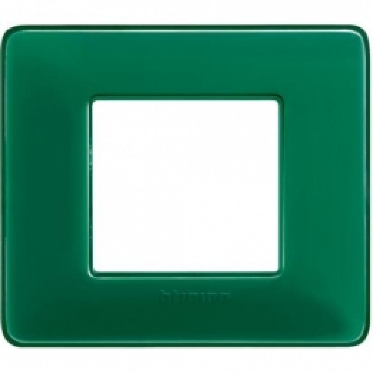 Placca 2 Moduli Smeraldo Bticino Matix AM4802CVS