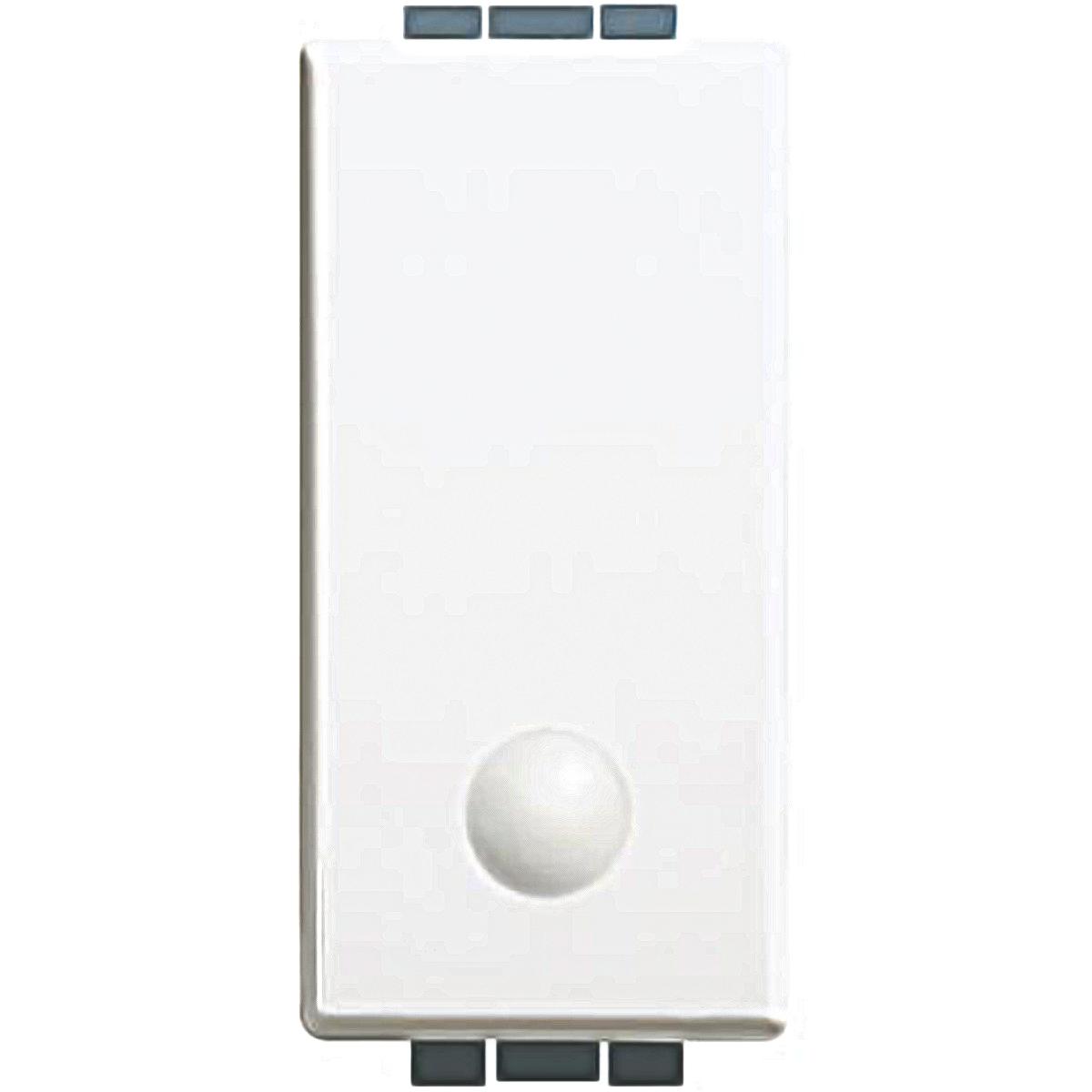 Luna bticino pulsante 1p no 10a  illuminabile C4005L