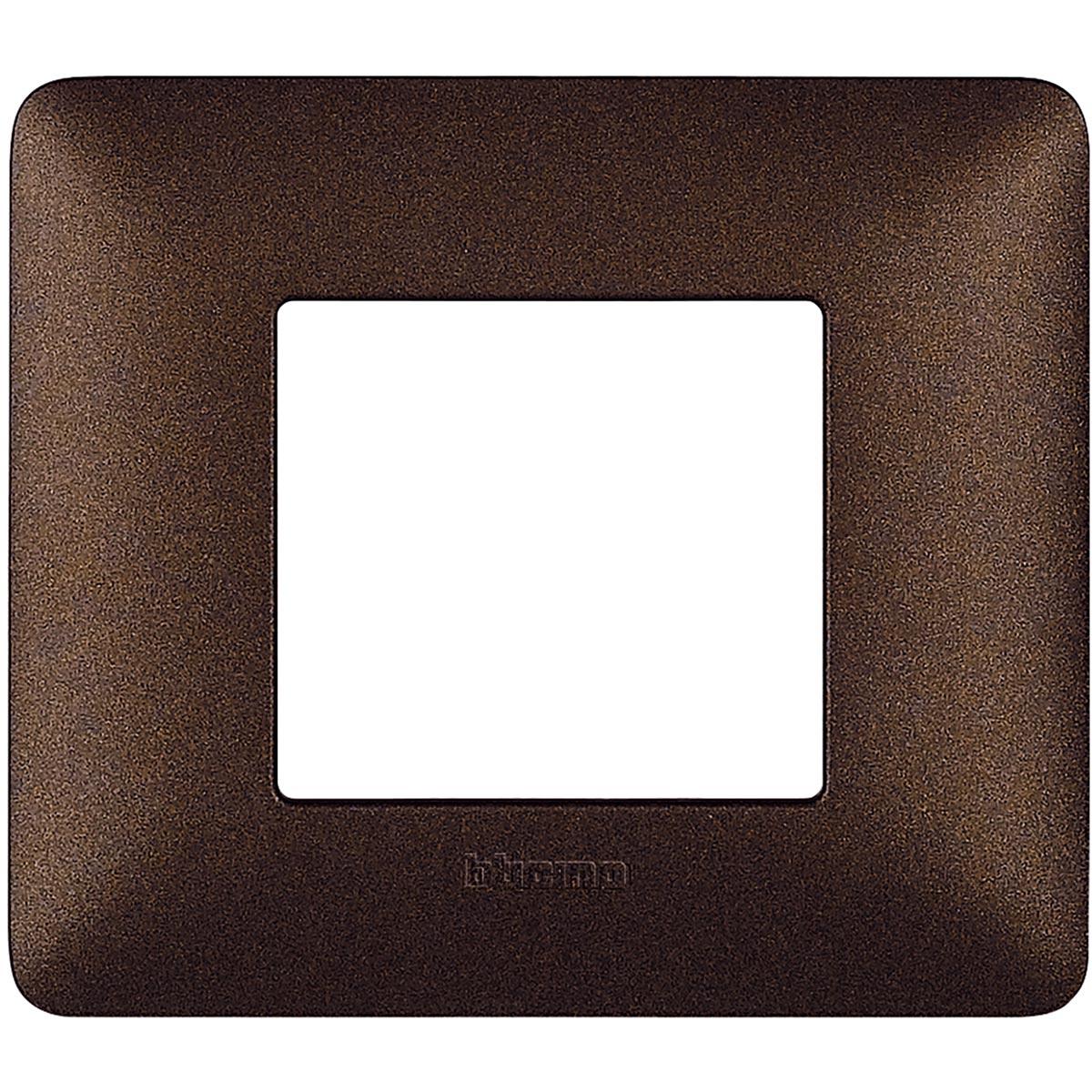 Placca 2 Moduli Marrone Caffè Bticino Matix AM4802TGG