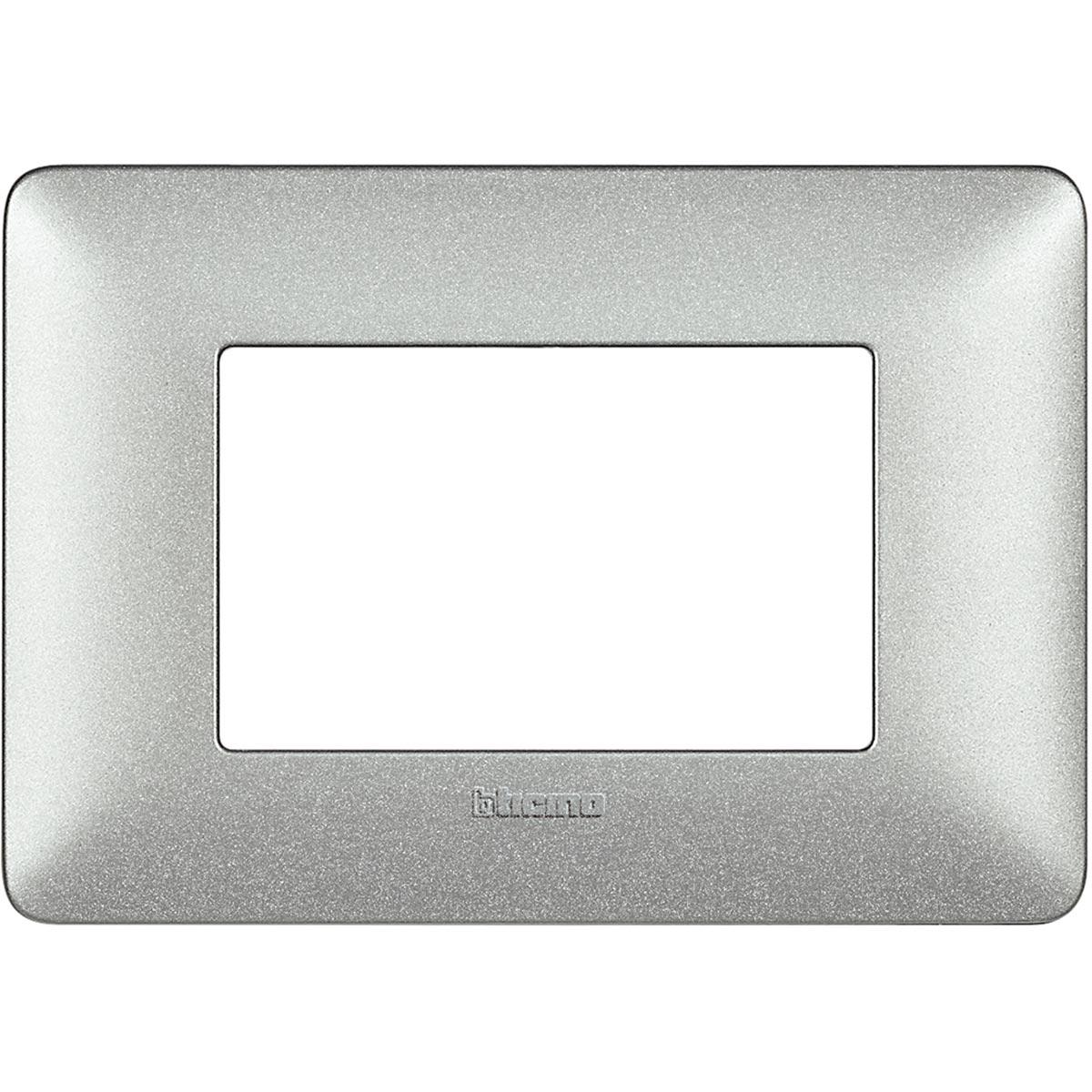 Placca 3 Moduli Bianco Calce Bticino Matix AM4803TBC