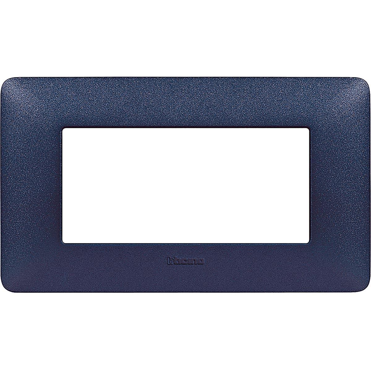 Placca 4 Moduli Blu Mercurio Bticino Matix AM4804TBM