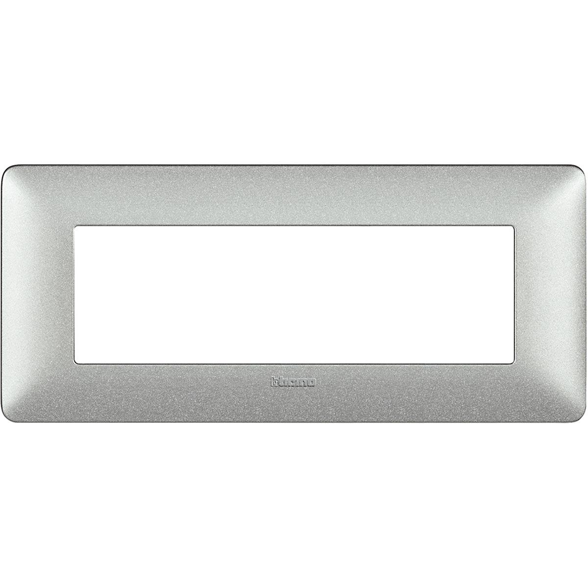 Placca 6 Moduli Bianco Calce Bticino Matix AM4806TBC