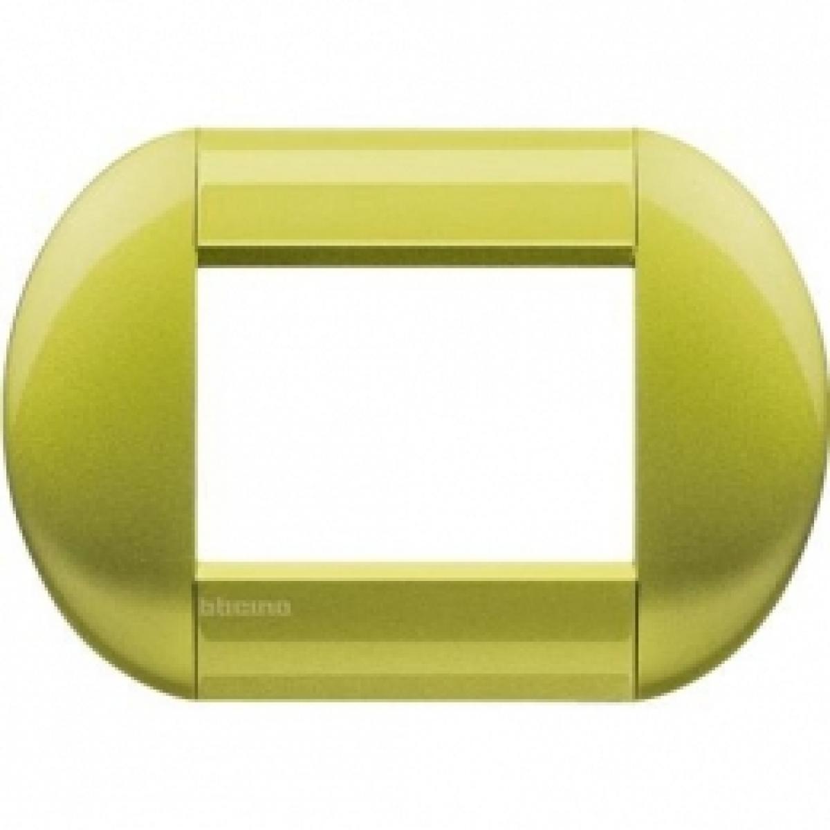 Placca Tonda 3 Moduli Citron Bticino Living International LNB4803CT