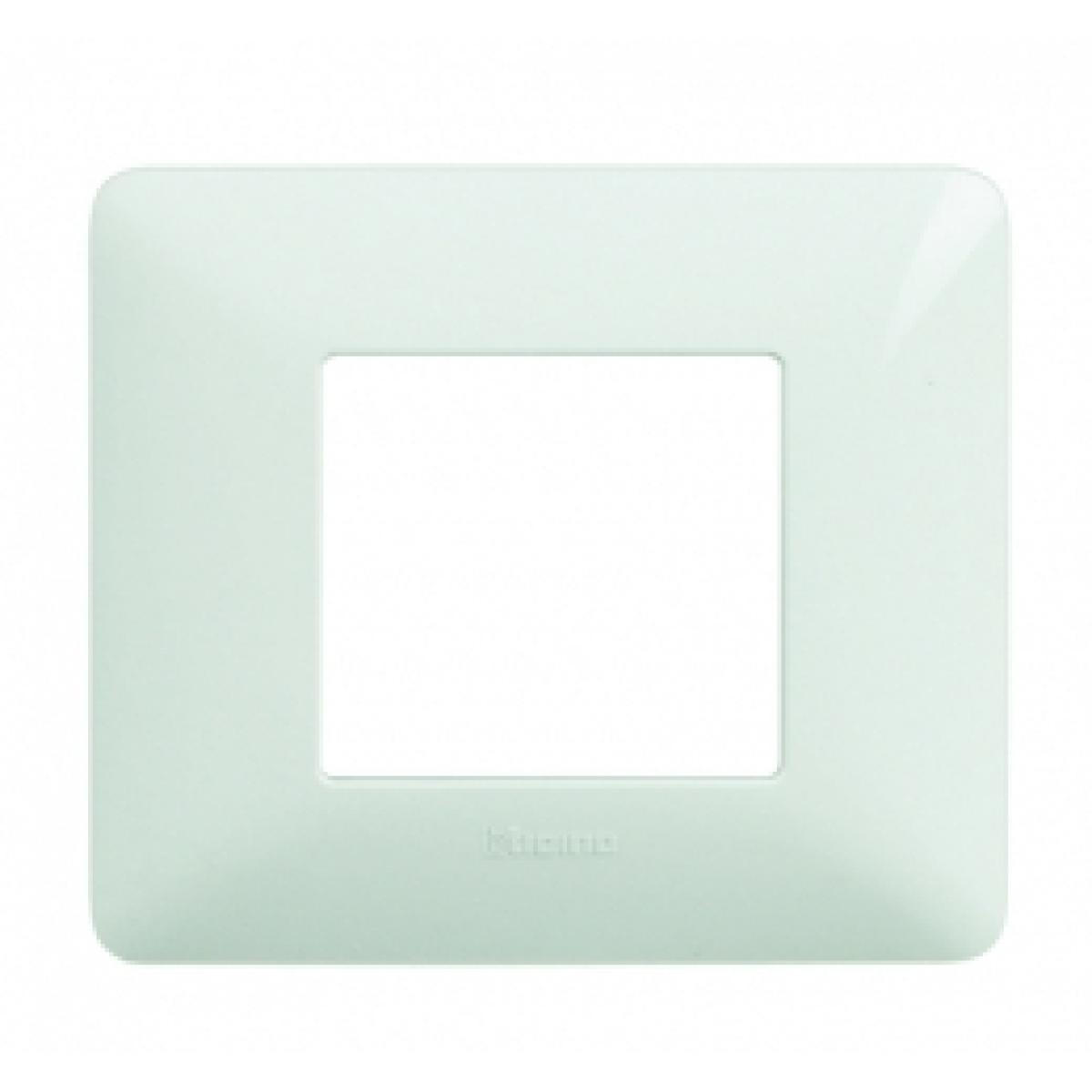 Placca 2 Moduli Bianco Bticino Matix AM4802BBN