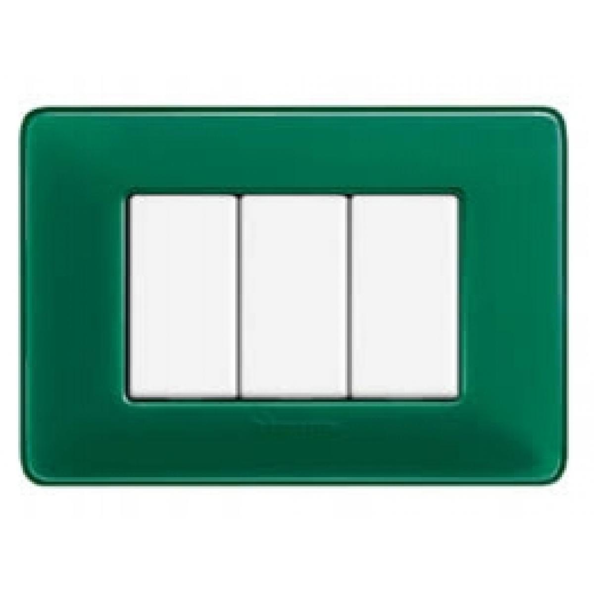 Placca 3 Moduli Smeraldo Bticino Matix AM4803CVS